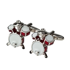 Drum Cufflinks - Drum Design Cuff Links