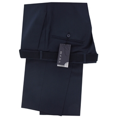 m.e.n.s. Dress Wool Stretch Trouser - Navy Blue