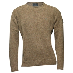 Fynch Hatton Wool Crew-Neck - Mustard