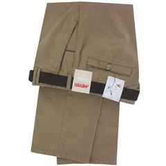 """Meyer Trousers Luxury Winter Cotton - Sand - New York 5527 43 - Size 48""""R Only"""