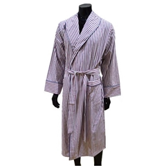Lightweight Men's Dressing Gown - Red/White
