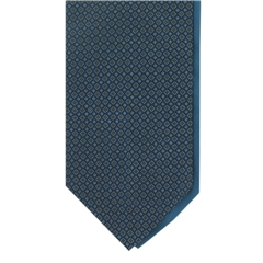 Teal Neat Design Cravat