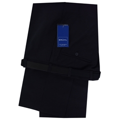 Bruhl Gabardine Wool Trousers - Navy - Robert 3455 680