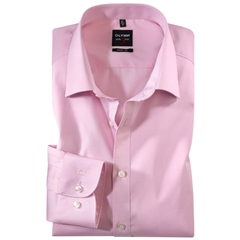 Olymp Level Five Body Fit Shirt - Pink Chambray