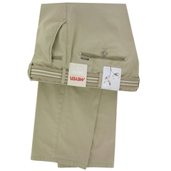 Meyer Trousers Luxury Pima Cotton - Beige - Bonn 5134 32 - Size 38L Only