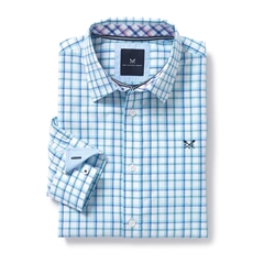 Mens Crew Clothing Classic Fit Shirt - Blue Topaz - Size XXL Only