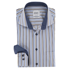 "Oscar Shirt - Multi stripe - SIZE MEDIUM 15.5"" COLLAR"
