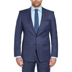 Digel Suit - Modern Fit 100% Italian Wool - Finest quality - Dark Blue Neat