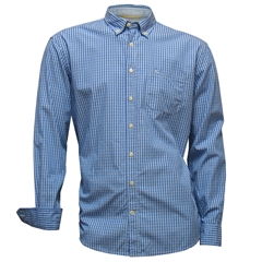 New 2017 Camel Active Shirt - Blue Neat Check - 2XL Only