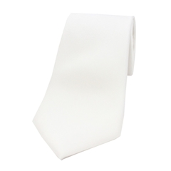 The Silk Tie Company - White - 100% Satin Silk Tie