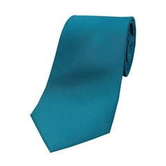 The Silk Tie Company - Teal - 100% Satin Silk Tie