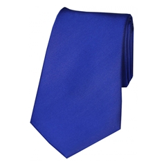 The Silk Tie Company - Royal Blue - 100% Satin Silk Tie