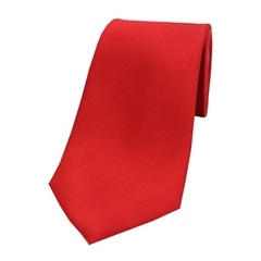 The Silk Tie Company - Red - 100% Satin Silk Tie