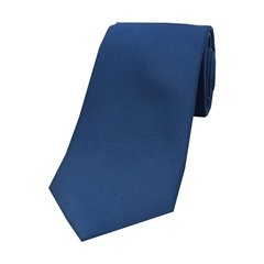 The Silk Tie Company - Navy - 100% Satin Silk Tie