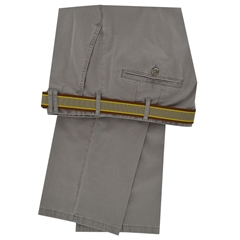 Meyer Luxury Cotton & Silk Trousers - Taupe - Style Madrid 7050 35