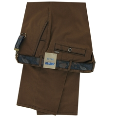 """Meyer Trousers Satin Cotton - Light Brown - Style New York 5531 43 - Size 42""""S Only"""