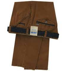 "Meyer Trousers Micro-Design Cotton - Tan - Style Chicago 5533 46 - Size 40""L Only"