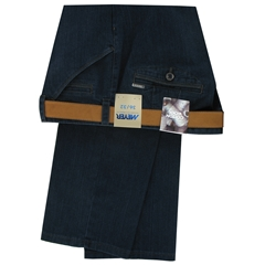 Meyer Cotton & Wool Denim Trouser - Blue - Chicago 4511 19