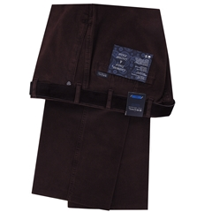 Bruhl Luxury Cotton Trouser - Wine - Montana 182310 870