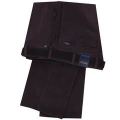 Bruhl Cotton Cotele Trouser - Wine - Montana 182790 840