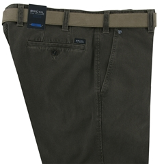 Bruhl Cotton Thermo Trouser - Olive Brown - Chester 182730 540