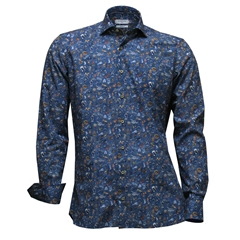 Giordano Shirt - Circus Design On Blue - Modern Fit - Size Medium Only