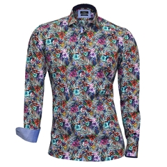Giordano Shirt - Flowers & Leafs - Modern Fit