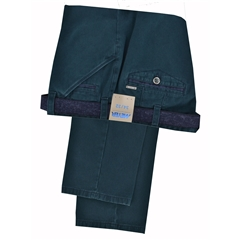 Meyer Trousers Micro-Design Cotton - Bottle Green - Style Chicago 5533 27