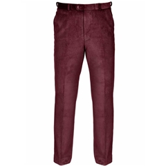 Gurteen Verona Cotton Corduroy Trouser - Wine