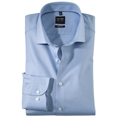 Olymp Level Five Body Fit  Shirt  - Diamond Twill Sky Blue