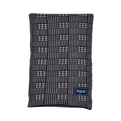 Men's Knitted Scarf - Patterned Check Black&grey