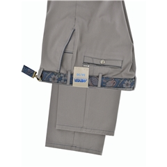 Meyer Trousers Satin Cotton - Putty - Style New York 5531 33