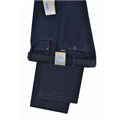 Meyer Jeans-Style Cotton Trousers - Navy - Style Diego 5532 19