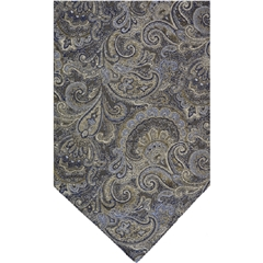 Ecru Silk Cravat with Grey Paisley