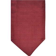 Wine Silk Cravat with Neat Red Design