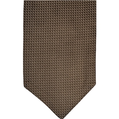 Brown Silk Cravat with Neat Beige Design
