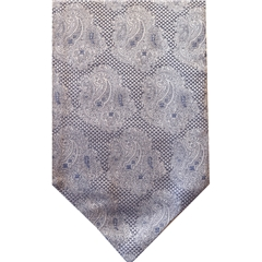 Pale Blue Silk Cravat with Paisley Design
