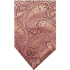 Fuschia Silk Cravat with Ecru Paisley Design
