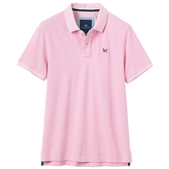 New 2018 Crew Men's Pique Polo - Classic Pink