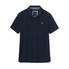 New 2018 Crew Men's Pique Polo - Navy