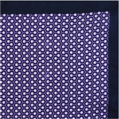 Mens Printed Silk Twill Pocket Handkerchief - Purple Neat Design