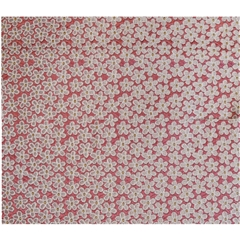 Mens Woven Silk Pocket Handkerchief - Pink Neat Flowers Design