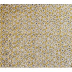 Mens Woven Silk Pocket Handkerchief - Gold Neat Flowers Design