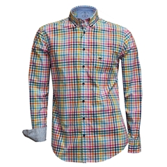 Fynch Hatton Shirt - Multi-Check - Size 5XL Only