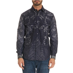 Robert Graham Limited Edition The Cooley Shirt - Indigo - Size XXL Only