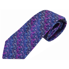 Van Buck Limited Edition - Purple Paisley Design Tie