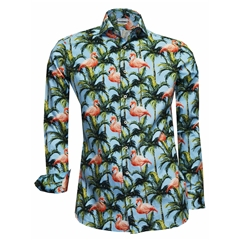 Giordano Shirt - Flamingo Jingo - Modern Fit