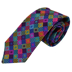Van Buck Limited Edition - Multicoloured Check Design Tie