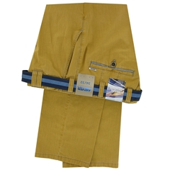 Meyer Summer Cotton Trouser - Saffron - Oslo 5002 45