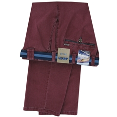 Meyer Summer Cotton Trouser - Grenache - Oslo 5002 55